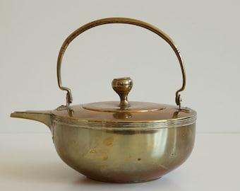Antique Copper Kettle Designed by Jan Eisenloeffel Jugendstil Dutch Design CA. 1905