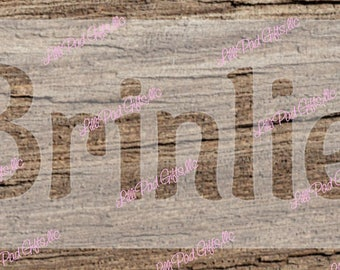 "YOUR NAME - CUSTOM - Brinlie Font - 10""x5"" - Re-usable stencil"