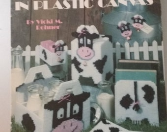 Leisure Arts Leaflet 1293  Create a Mooo-d in Plastic Canvas