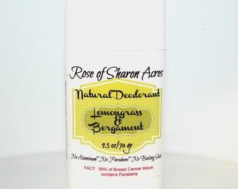 Natural Deodorant - NO Baking Soda, Paraben FREE