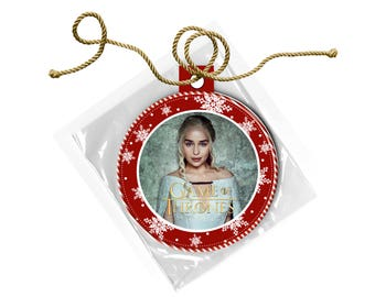 Game of Thrones Daenerys Targaryen  Emilia Clarke Christmas Ornament