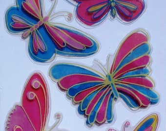 Stickers - Butterfly pink - 5 x 3D