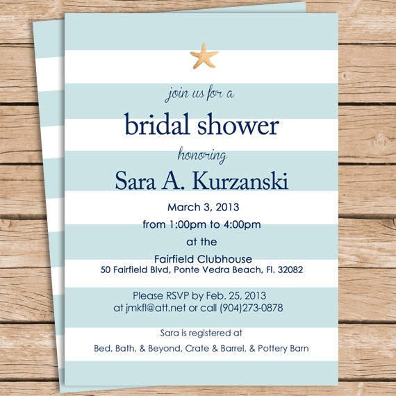 Beach bridal shower invitations filmwisefo Image collections