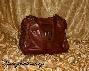 Genuine vintage bag - genuine leather