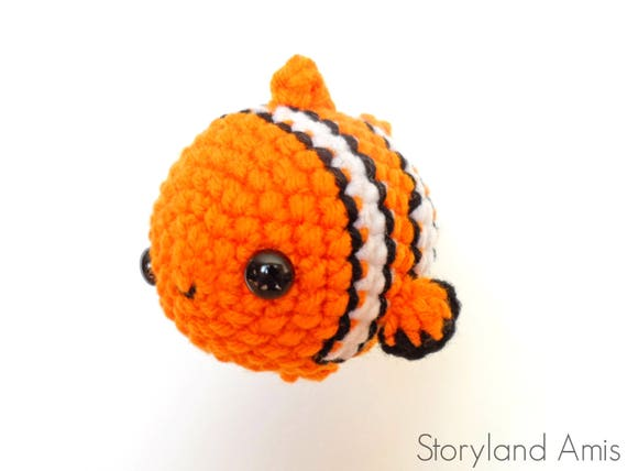 Pattern Finding Nemo Inspired Amigurumi Crocheted