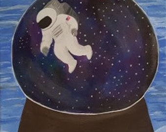 Astro Snow Globe Original Art Wall Art