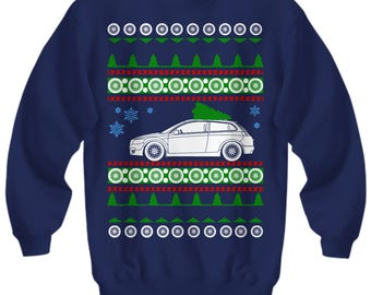 Volvo c30 Ugly Christmas Sweater Sweatshirt cars holidays swedish gift for volvo owner