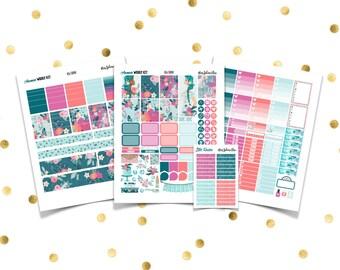 AQUAMARINE Weekly Kit // Printable Planner Stickers / Erin Condren Plum Paper Happy Planner Filofax Inkwell Press Spring March Summer Girl