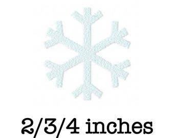 Frozen snowflake machine embroidery design 2/3/4 inch instant download
