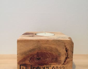 Holder - candle wooden
