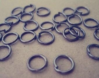 300 pcs gunmetal color Jump Rings 6mmx0.9mm