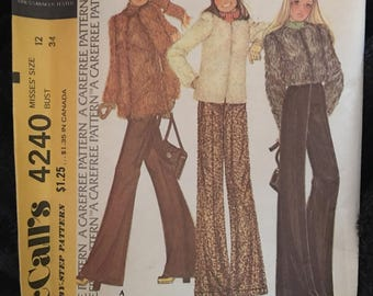 Vintage 60s McCall's Coat Pattern-Size 12 (34 bust)