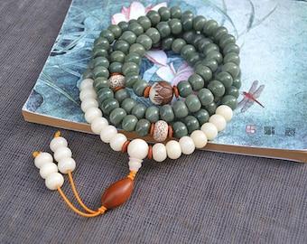 Stunning Tibetan 108 mala beads 8 mm Bodhi mala prayer, mantra, Buddhism