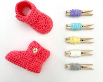 Short Crochet Baby Booties