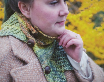 Small Goldfinch Cowl - Knitting Pattern - PDF