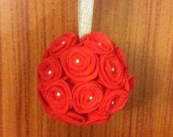 Felt Rose bauble