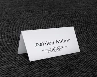 Place Card Template - Place Cards - Editable Place Card - Wedding Place Cards - Wedding Stationery - Table Place Cards