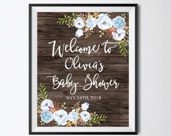 Baby Shower Welcome Sign Printable