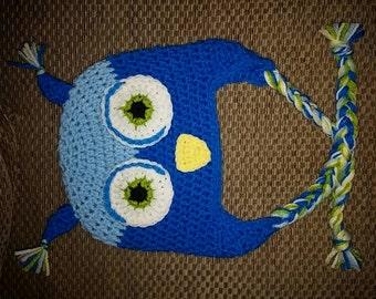 Cute Owl Crochet Hat