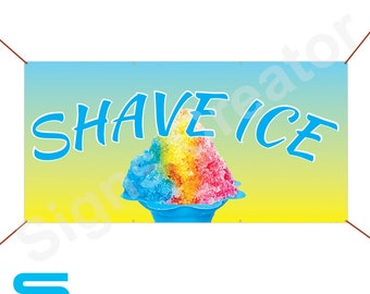 Shave Ice Banner Event Sign Party Banner Business Advertising Sign