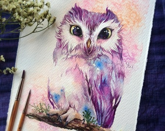 Look at to my eyes- ORIGINAL watercolor painting 7.5x11 inches