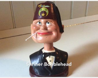 Vintage Shriner Bobblehead/Japanese Smoking Novelty/Mark Exclusive Made in Japan/Collectible Bobblehead/Smokie Bobblehead/Smokie Cigarettes