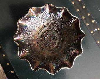 Fenton Persian Medallion Carnival Glass Bowl