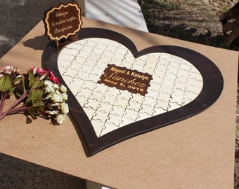 wedding guest book alternatives / wedding guest book puzzle / for wedding guest book sign