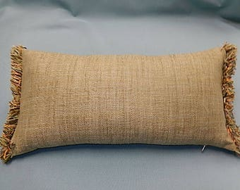 Herringbone Tweed Pillow - Tan, Gold, Brown - Decorative, Couch, Living Room, Bed Pillow