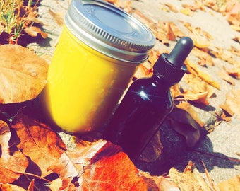 8 oz / 2 fl oz Moonkake & Hair oil package