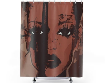Black Chocolate African American Woman Shower Curtain Home Decor Bathroom Unique Print