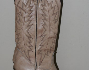 vintage women's high heel cowboy boots by jeenz bootz size 5.5