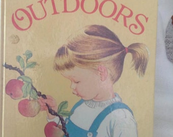 Vintage My Big Book of the Outdoors by Jane Watson, illustrated by Eloise Wilkin. A Golden Book Hardcover childrens