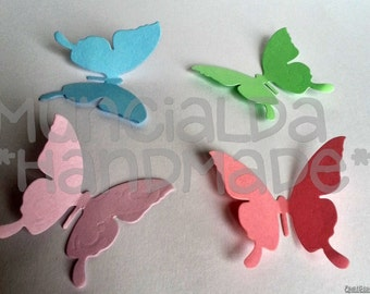 50 Paper butterflies - choose the color you like!
