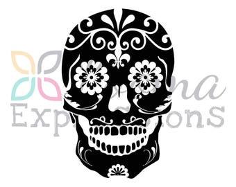 Calavera Sugar Skull Vinyl Decal