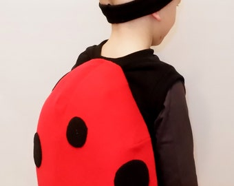 Ladybug costume / Kids Costume/ Girl ladybug costume/ Boy ladybug costume/ Ladybug dress up/ handmade costume/ Halloween costume