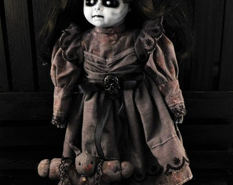 "Tonrar 14"" OOAK Porcelain Horror Doll"