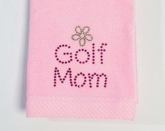 Golf Mom - Bling Towel (Pink)