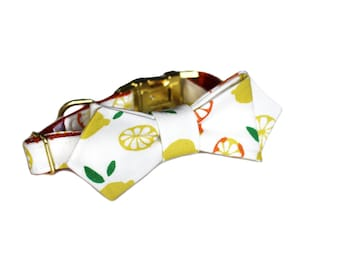 Luxury Dog or Cat Bow Tie - The ARCHER // Contemporary (Citrus Fruit Print)