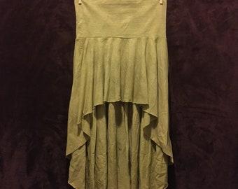 Hemp 'Riviera' Golden Age, Herbal Dyed, Women's Skirt