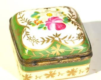 Vintage Meissen pillbox