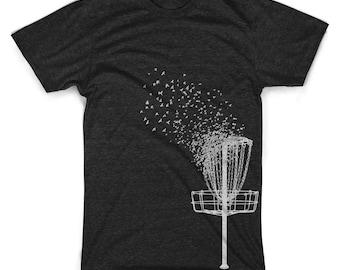 Disc Golf shirts funny disc golfer apparel graphic bird shirts retro vintage shirts super soft tri blend gifts for boyfriend