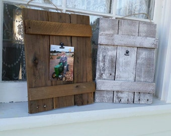 Rustic Wooden Picture Frame-Reclaimed Picture Frame-Picture Frame-Pallet Wood Frame-Rustic Wall Frame-Hanging Picture Frame-Farmhouse Decor