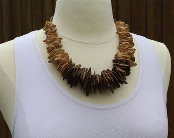 Color Block Wooden Necklace