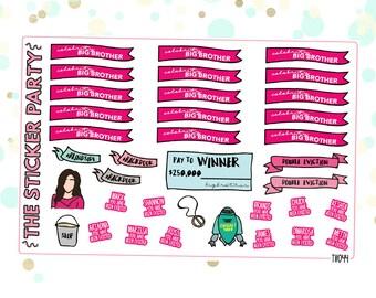 Celebrity Big Brother Planner Stickers #CBBUS #BBCeleb