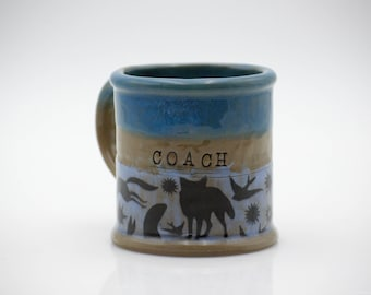 coffee mug coach gift, ceramic mug,best coach gifts , large coffee mug, Christmas gift, handmade ceramics