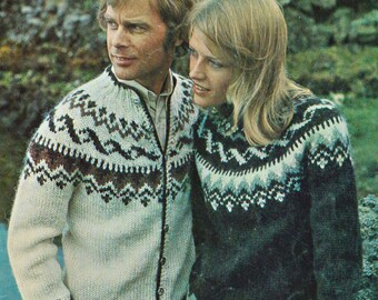 Lopi-style Sweater Pattern #51 PDF - an Icelandic Tradition -  directions for both Sweater or Jacket/Cardigan options.