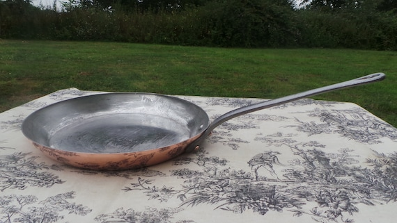 Copper Frying Serie Speciale of Villedieu 2mm Saute Skillet Quality Copper Pan Vintage French Copper Big Kitchen Staple Beautiful Condition