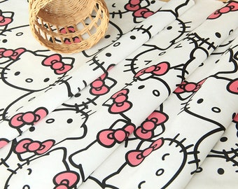 1 x coupon 50x145cm patchwork sewing Hello Kitty Japanese cat fabric