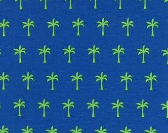 Robert Kaufman fabric PALM TREES on Blue